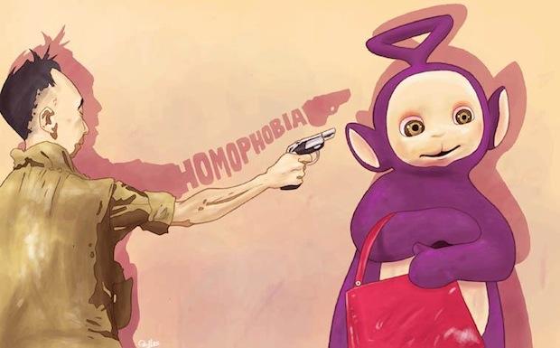 Luis Quiles_ Against homophobia illustrazione contro l'omofobia teletubbies