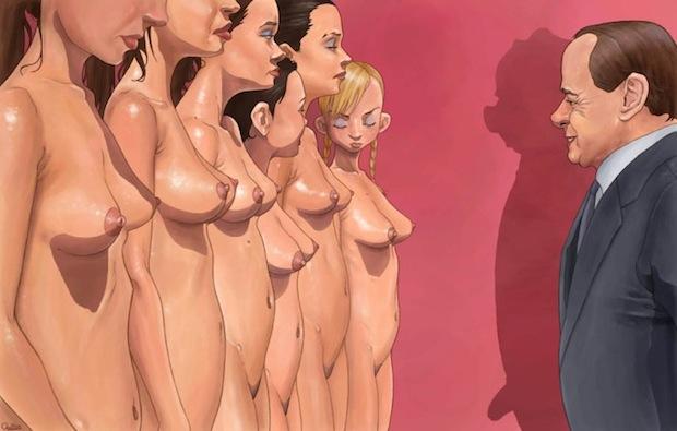 Luis Quiles_ illustrazione berlusconi