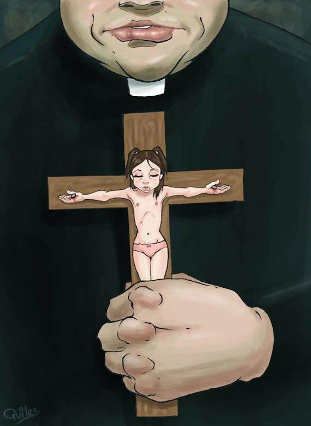 Luis Quiles_ illustrazione per uguaglianza di genere, la chiesa non rispetta la donna