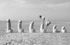 cazzetti, donna che salta cazzi, statue di cazzi, erotic art drops